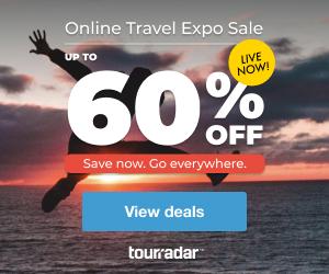 TourRadar Online Travel Expo 300x250 | Up To 60% Off Travel Deals!